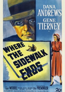 """Where the sidewalk ends"" (1950), reż. Otto Preminger"